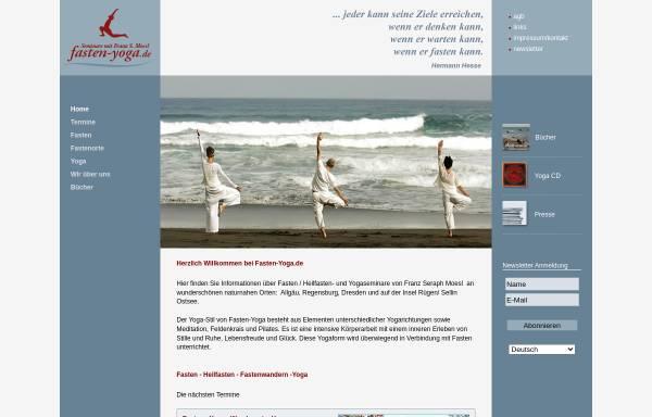 Vorschau von www.fasten-yoga.de, Franz Seraph Moesl - Fasten und Yoga