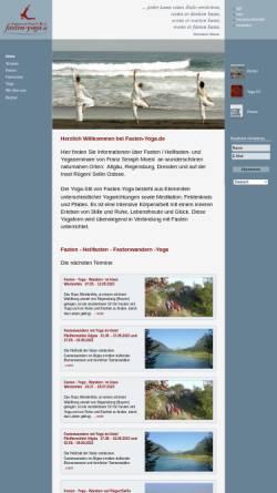 Vorschau der mobilen Webseite www.fasten-yoga.de, Franz Seraph Moesl - Fasten und Yoga
