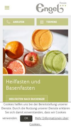 Vorschau der mobilen Webseite www.fastenkur.at, Pension Engel Fastenhotel