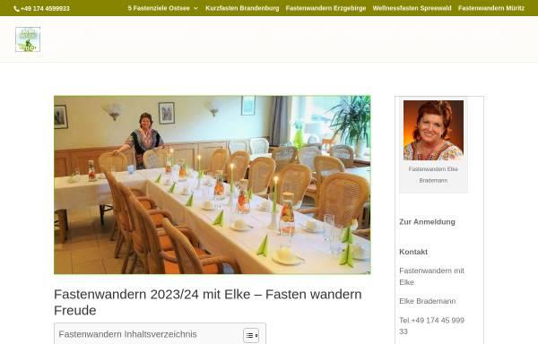 Vorschau von www.fastenwandern-elke.de, Elke Brademann Fastenwanderungen