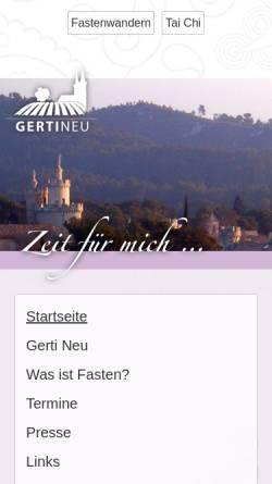 Vorschau der mobilen Webseite fasten-reise.de, Gerti Neu Fastenwanderungen