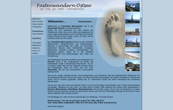 Vorschau von www.fastenwandern-ostsee.de, Kersten Wegner Fastenwanderungen