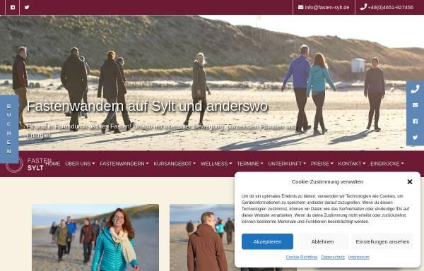 Vorschau von www.fasten-sylt.de, Fastenhaus Ahlers auf Sylt