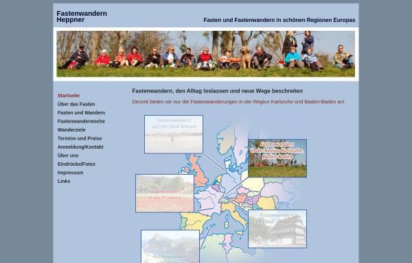 Vorschau von www.fastenwandern-heppner.de, Uwe Heppner Fastenwanderungen
