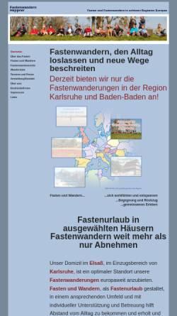 Vorschau der mobilen Webseite www.fastenwandern-heppner.de, Uwe Heppner Fastenwanderungen