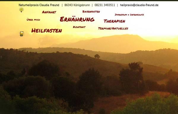 Vorschau von www.claudia-freund.de, Naturheilpraxis Claudia Freund