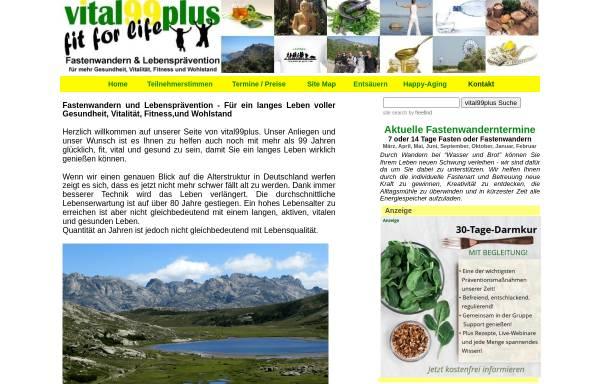 Vorschau von www.vital99plus.com, Vital99plus Fastenkuren und Fastenleiter-Ausbildungen