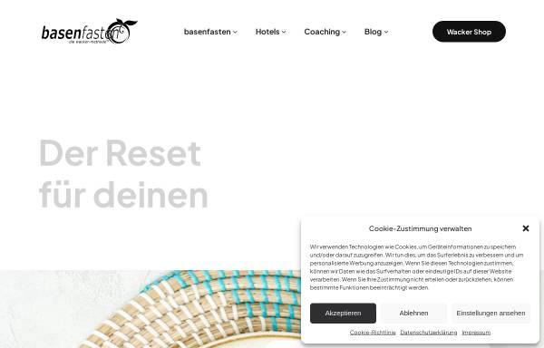 Vorschau von www.basenfasten.de, Basenfasten nach der Wacker-Methode
