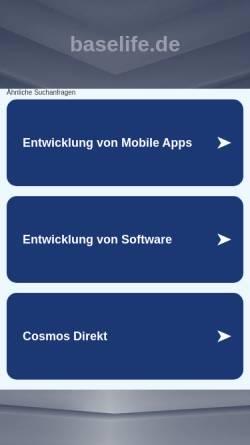 Vorschau der mobilen Webseite www.baselife.de, Bernd Bieder Fastenwandern
