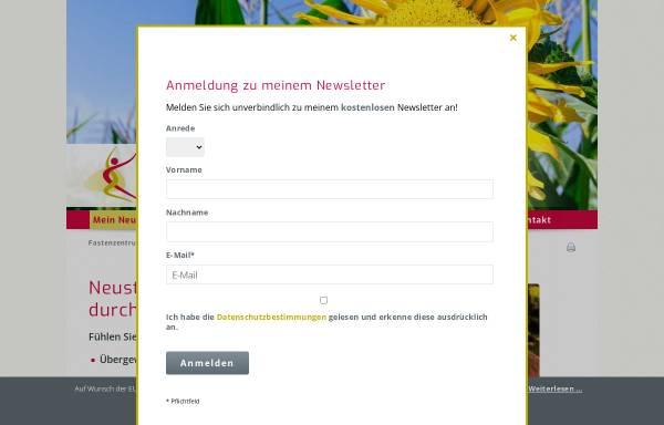 Vorschau von www.fastenzentrumkirstein.de, Fastenzentrum Kirstein für homöopathisch begleitetes Fasten