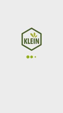 Vorschau der mobilen Webseite www.klein-naturarznei.de, Dr. Gustav Klein GmbH & Co. KG
