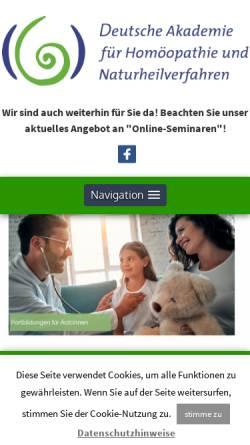 Vorschau der mobilen Webseite www.dahn-celle.de, Deutsche Akademie für Homöopathie und Naturheilverfahren e.V.