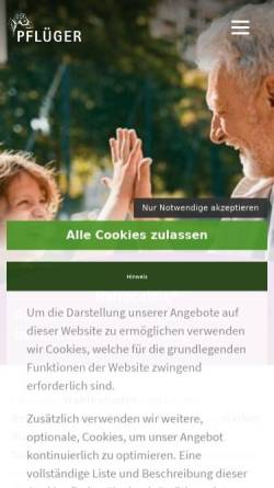 Vorschau der mobilen Webseite www.ranocalcin.de, Ranocalcin
