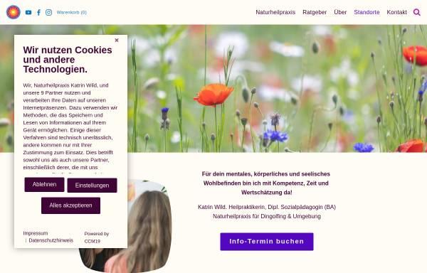 Vorschau von www.katrinwild.de, Heilpraktikerin & Dipl. Sozialpädagogin (BA) Katrin Wild