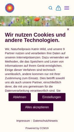 Vorschau der mobilen Webseite www.katrinwild.de, Heilpraktikerin & Dipl. Sozialpädagogin (BA) Katrin Wild