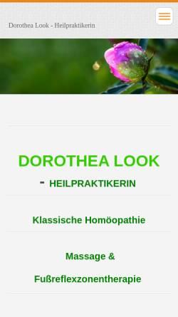 Vorschau der mobilen Webseite www.dorothea-look.de, Dorothea Look