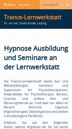 Vorschau der mobilen Webseite www.lernwerkstatt-pcb.de, Lernwerkstatt Psychotherapie, Coaching, Beratung