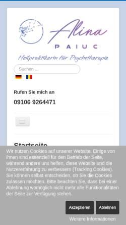Vorschau der mobilen Webseite hypras.de, Hypnosepraxis Hypras, Günther Haas und Alina Paiuc