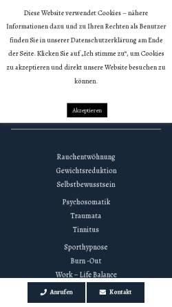 Vorschau der mobilen Webseite www.hypnoseinstitut.berlin, Hypnose-Institut Berlin