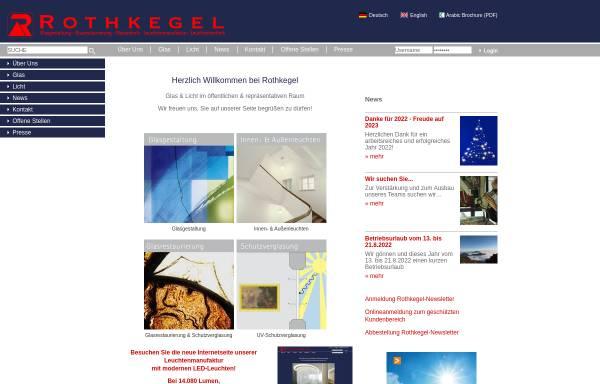Vorschau von www.rothkegel.com, Glaswerkstätte Rothkegel