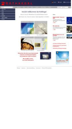 Vorschau der mobilen Webseite www.rothkegel.com, Glaswerkstätte Rothkegel