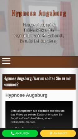 Vorschau der mobilen Webseite www.hypnose-heilpraktiker.com, Michael Schamel