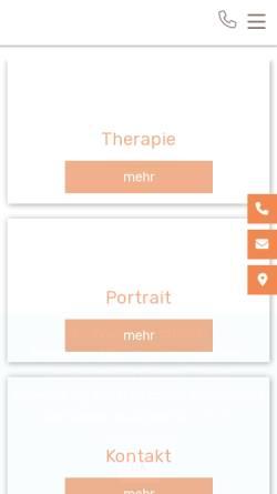 Vorschau der mobilen Webseite wirbeltherapie-wetzikon.ch, Praxis für Wirbeltherapie