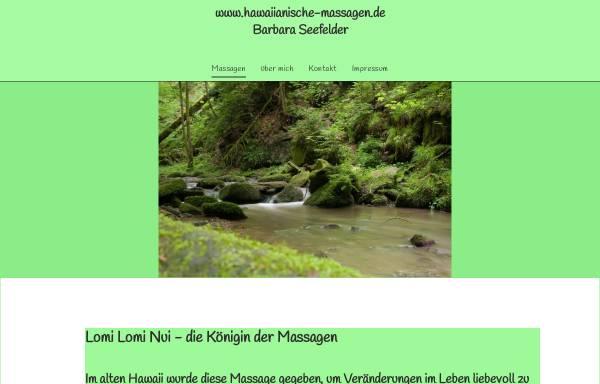 Vorschau von www.hawaiianische-massagen.de, Seefelder, Barbara