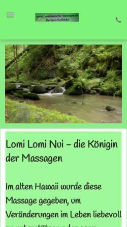 Vorschau der mobilen Webseite www.hawaiianische-massagen.de, Seefelder, Barbara