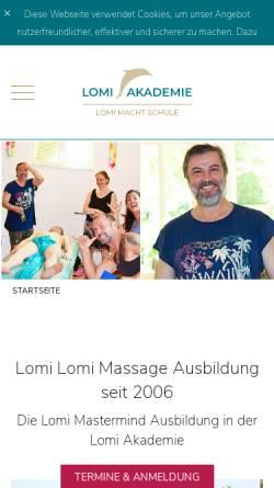 Vorschau der mobilen Webseite www.lomi-mit-herz.de, Lomi Akademie Berlin