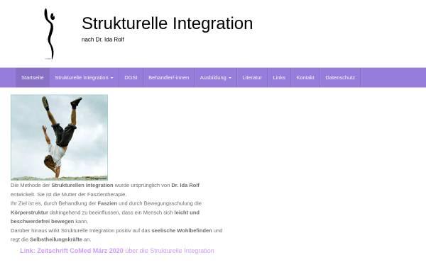 Vorschau von strukturelle-integration.de, Deutsche Gesellschaft für Strukturelle Integration e.V.