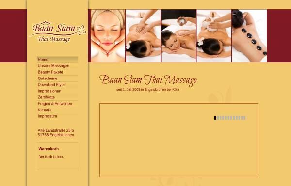 Vorschau von www.baansiam-massage.de, BaanSiam Thai Massage