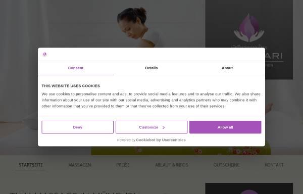Vorschau von www.phatchari-massage.de, Phatchari Thai Massage