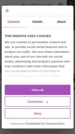 Vorschau der mobilen Webseite www.phatchari-massage.de, Phatchari Thai Massage