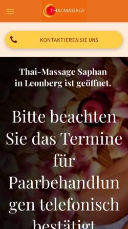 Vorschau der mobilen Webseite www.saphan.de, Saphan, Wohlbefinden und Technik