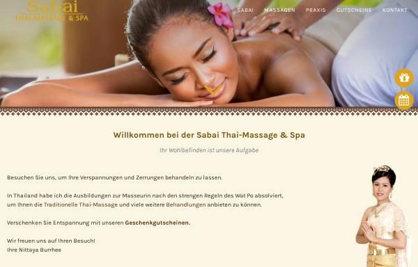 Vorschau von www.thai-massage-sabai.de, Sabai Thai-Massage und Spa