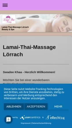 Vorschau der mobilen Webseite www.lamai-thai-massage.de, Lamai-Thai-Massage