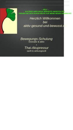 Vorschau der mobilen Webseite www.aktiv-gesund-und-bewusst.de, Traditionelle Thai Yoga Massage und Gesundheitsprävention