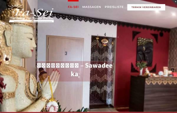 Vorschau von fasei.de, Traditionelle Thai-Massage Fa-Sei