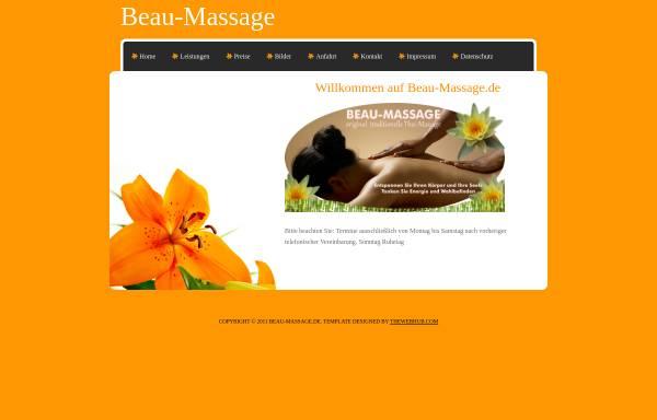 Vorschau von www.beau-massage.de, Beau-Massage, Monthip Bunsawaeng-Frie