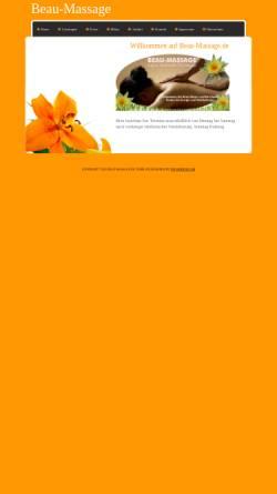Vorschau der mobilen Webseite www.beau-massage.de, Beau-Massage, Monthip Bunsawaeng-Frie