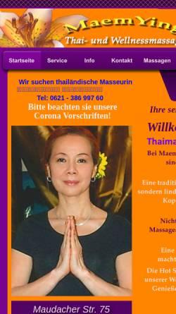 Vorschau der mobilen Webseite www.maemying-thaimassage.de, Maem und Ying Thai- und Wellnessmassage