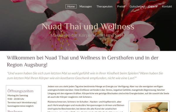 Vorschau von www.nuadthai-wellness.de, Nuad Thai und Wellness Chotimanee Khempan