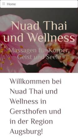 Vorschau der mobilen Webseite www.nuadthai-wellness.de, Nuad Thai und Wellness Chotimanee Khempan