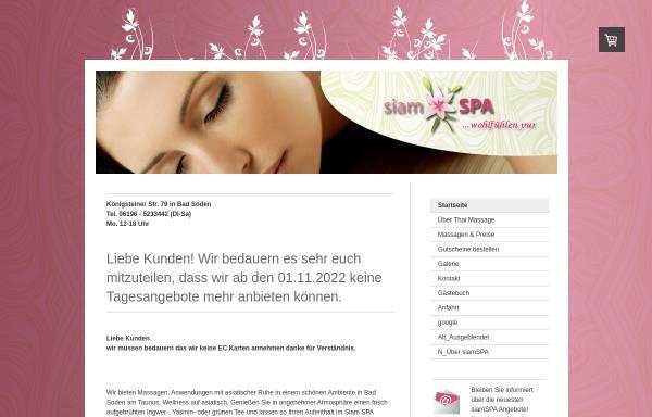 Vorschau von www.mysiamspa.de, Tha's Spa