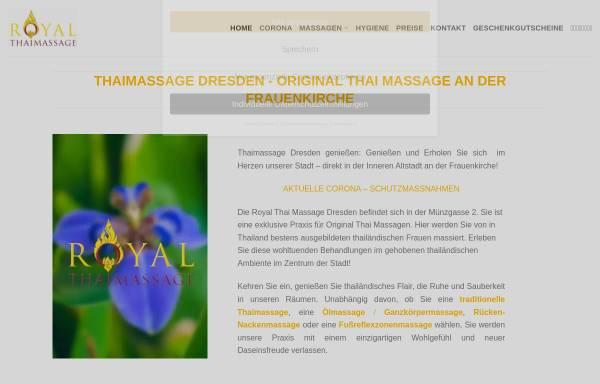 Vorschau von www.royal-thaimassage-dresden.de, Royal Thaimassage Dresden