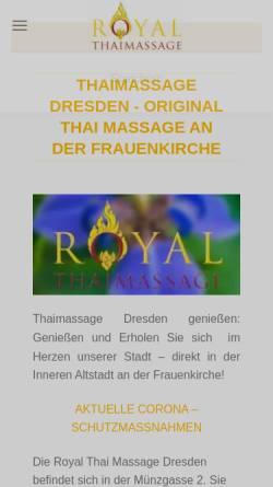 Vorschau der mobilen Webseite www.royal-thaimassage-dresden.de, Royal Thaimassage Dresden