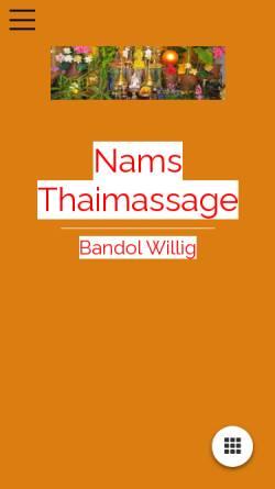 Vorschau der mobilen Webseite www.nams-thaimassage.de, Nams-Thaimassage Dresden