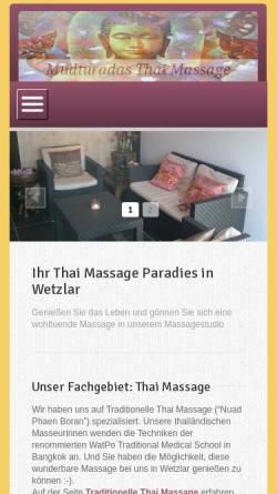 Vorschau der mobilen Webseite mudturadas-thai-massage-wetzlar.de, Mudturadas Thaimassage