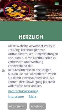 Vorschau der mobilen Webseite sabai-and-smile.de, Sabai and Smile Nuad Thai